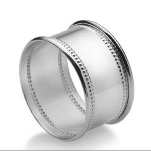 Mikasa Silver Bead Napkin Rings